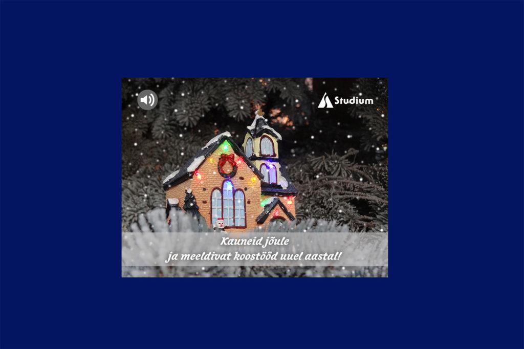 Kirjastus Studium jõulukaart 2014